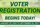 Voter Registration Begins Today!